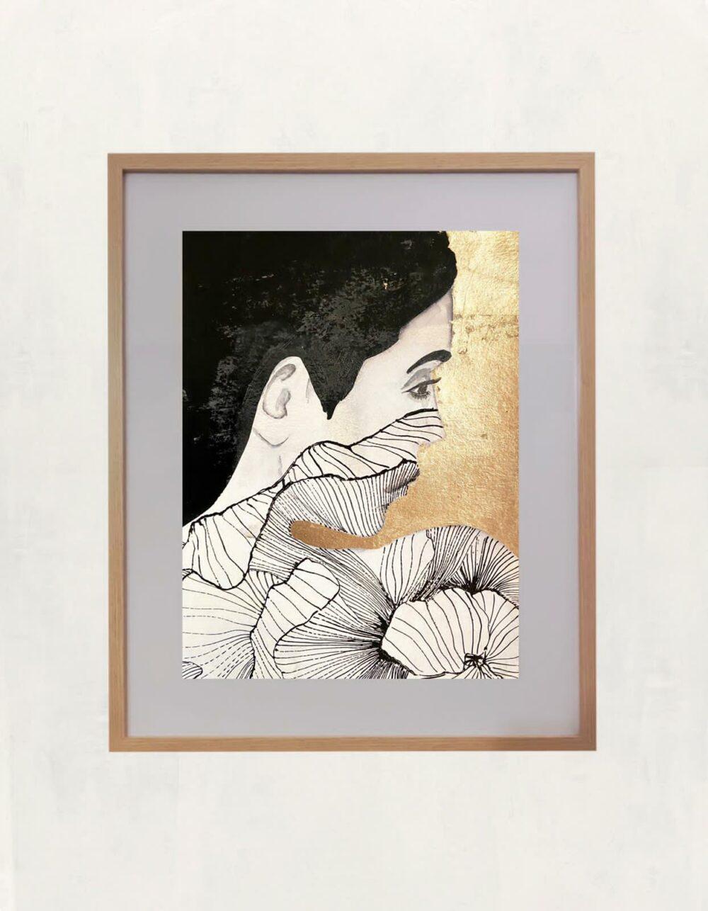 Vittoria dentelle florale noire Ramona Russu Bel'Arti