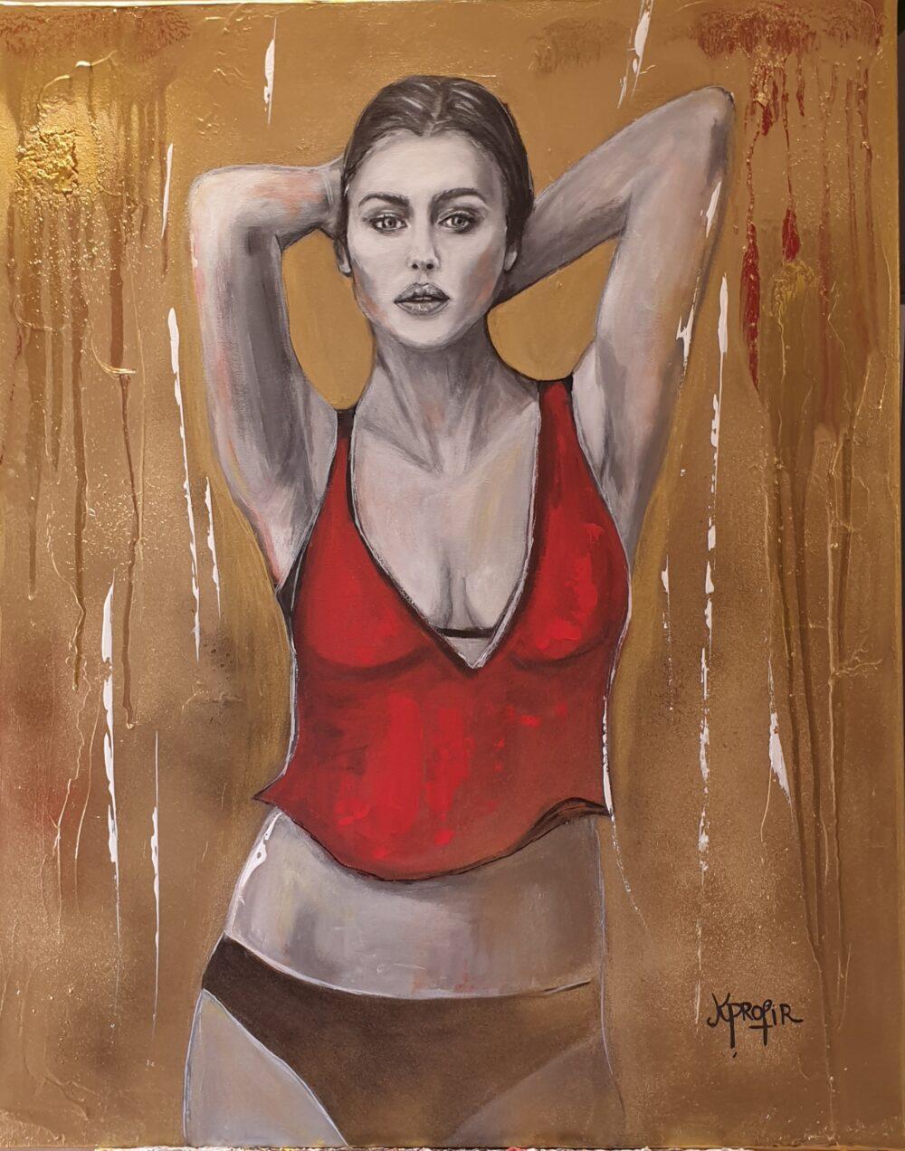 Monica Bellucci Karine PROFIR galerie Bel'Arti